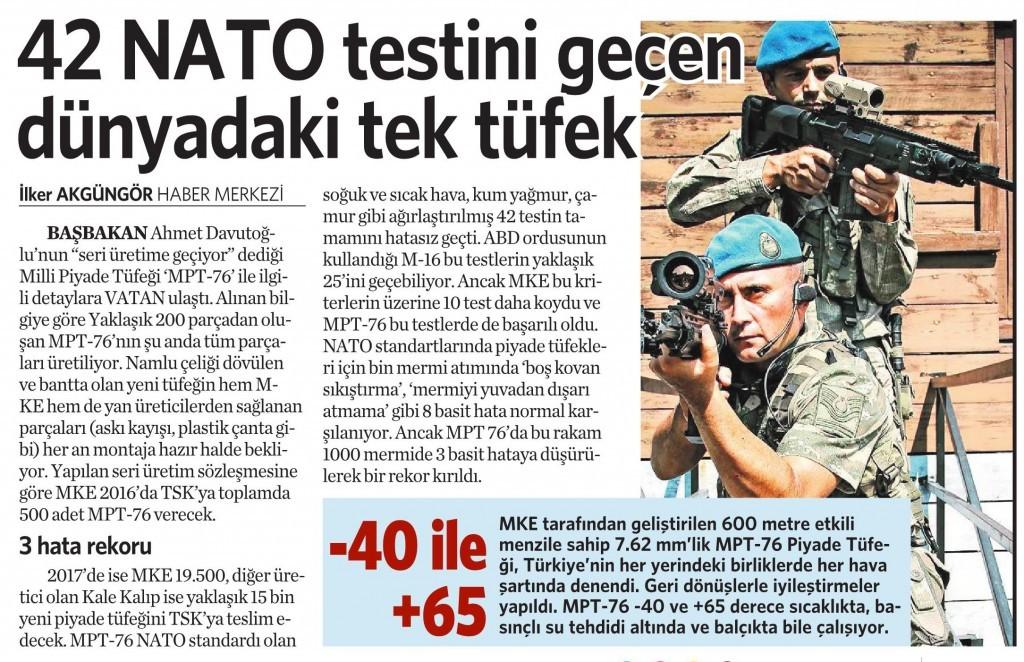 11 Mart 2016 Vatan Gazetesi 12. sayfa