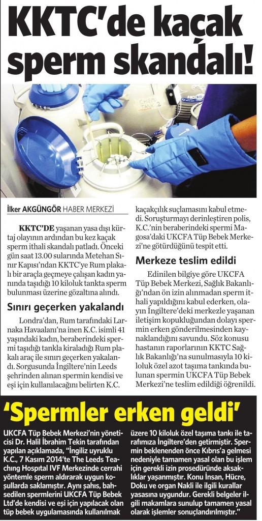 19 Mart 2016 Vatan Gazetesi 4. sayfa