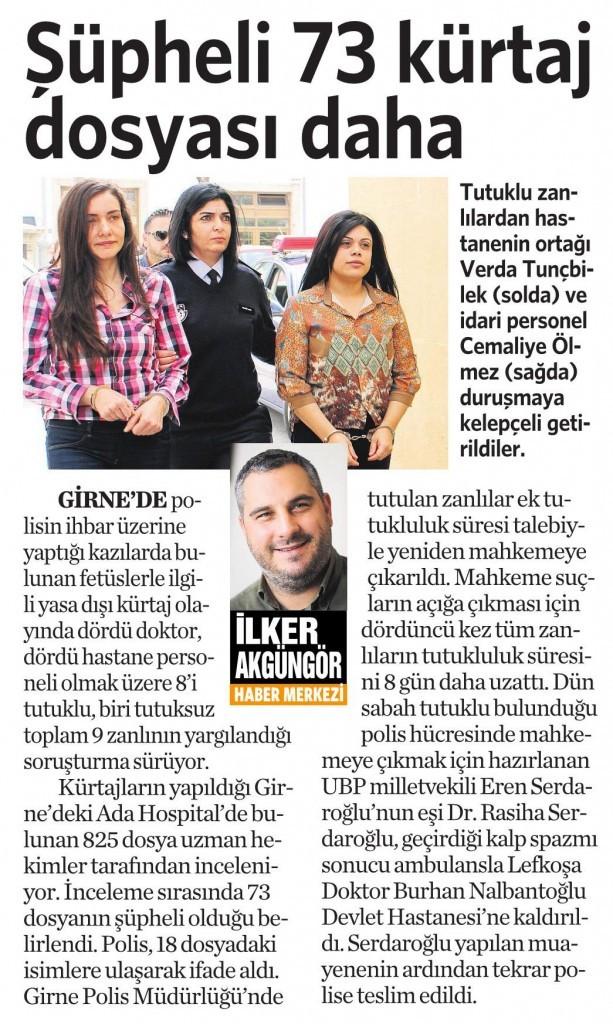 26 Mart 2016 Vatan Gazetesi 4. sayfa