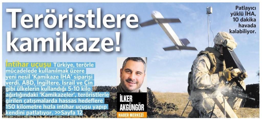 27 Mart 2016 Vatan Gazetesi 1. sayfa