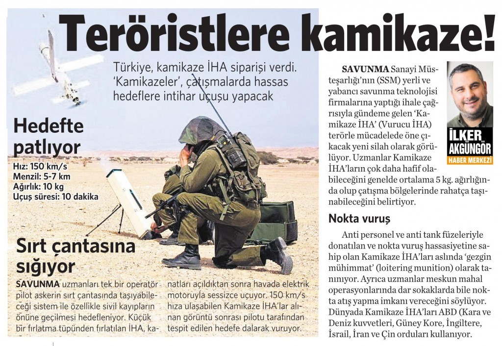 27 Mart 2016 Vatan Gazetesi 12. sayfa