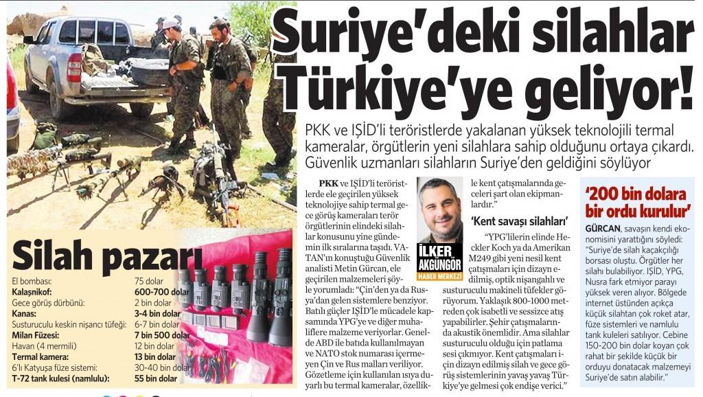 30 Mart 2016 Vatan Gazetesi 12. sayfa