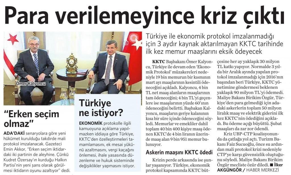 1 Nisan 2016 Vatan Gazetesi 16. sayfa