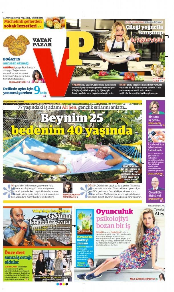 3 Nisan 2016 Vatan Hazar 1. sayfa