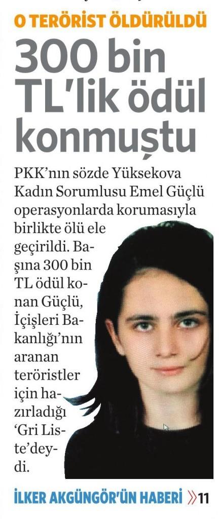 4 Nisan 2016 Vatan Gazetesi 1. sayfa