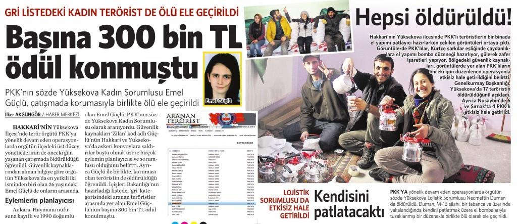 4 Nisan 2016 Vatan Gazetesi 11. sayfa