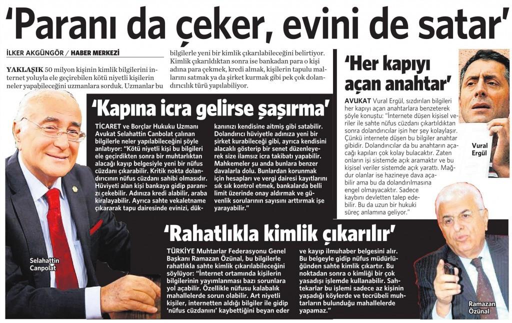 7 Nisan 2016 Vatan Gazetesi 16. sayfa
