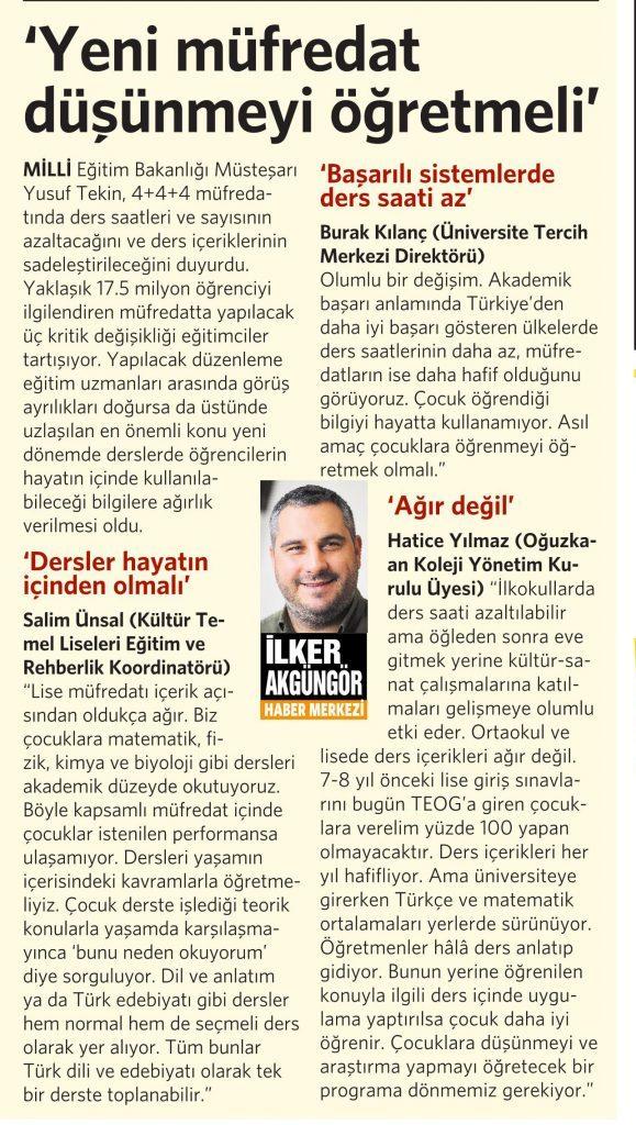 14 Nisan 2016 Vatan Gazetesi 4. sayfa