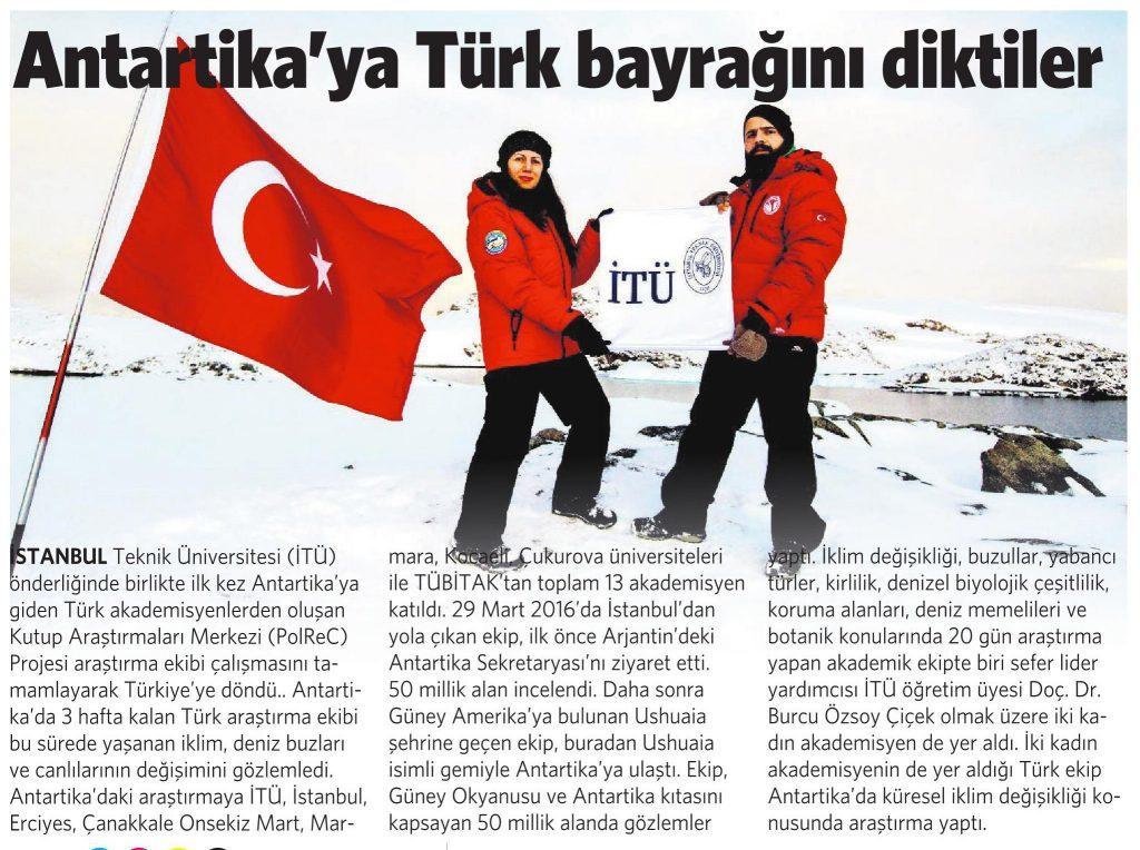 27 Nisan 2016 Vatan Gazetesi 2. sayfa