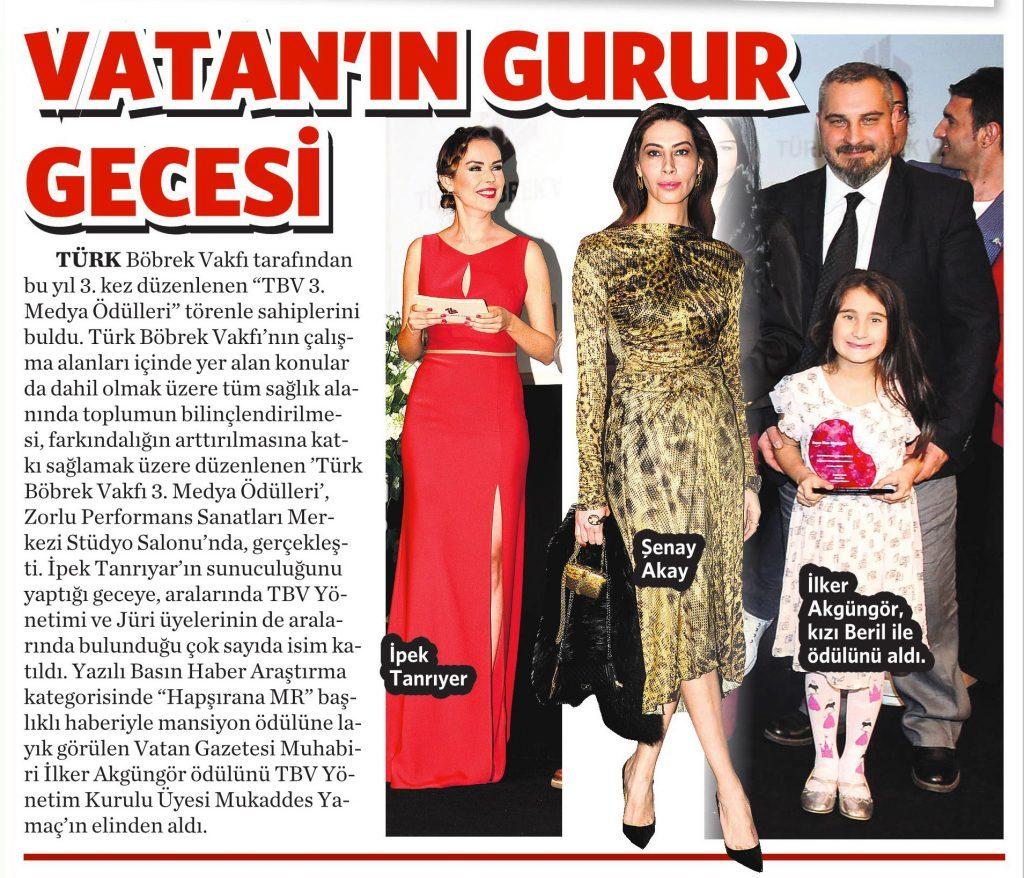 28 Nisan 2016 Vatan Gazetesi Makaron Eki 3. sayfa