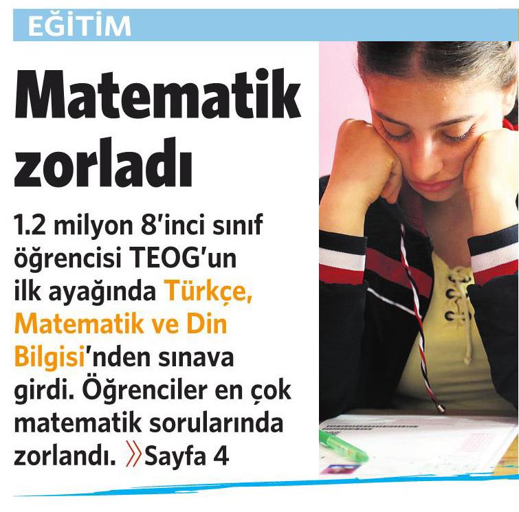 28 Nisan 2016 Vatan Gazetesi 1. sayfa