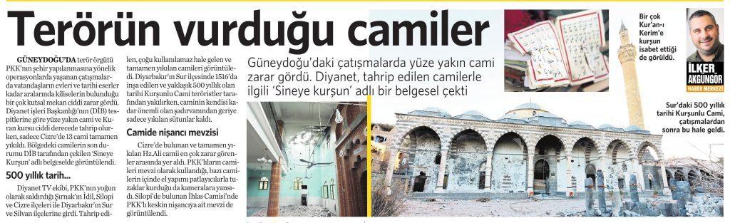 29 Nisan 2016 Vatan Gazetesi 17. sayfa