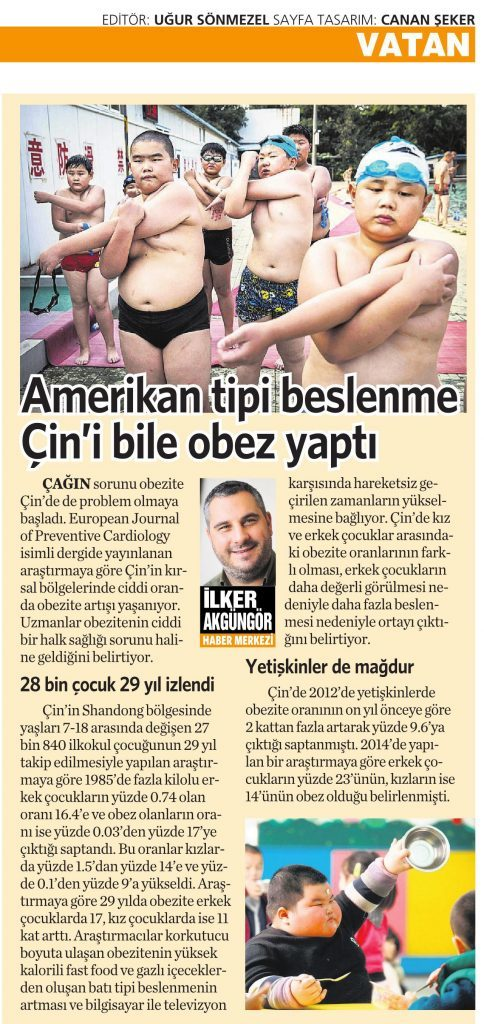 2 Mayıs 2016 Vatan Gazetesi 4. sayfa