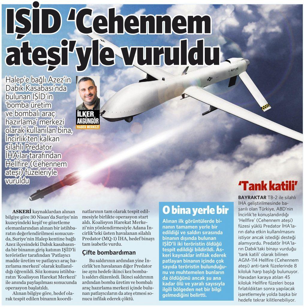 2 Mayıs 2016 Vatan Gazetesi 15. sayfa