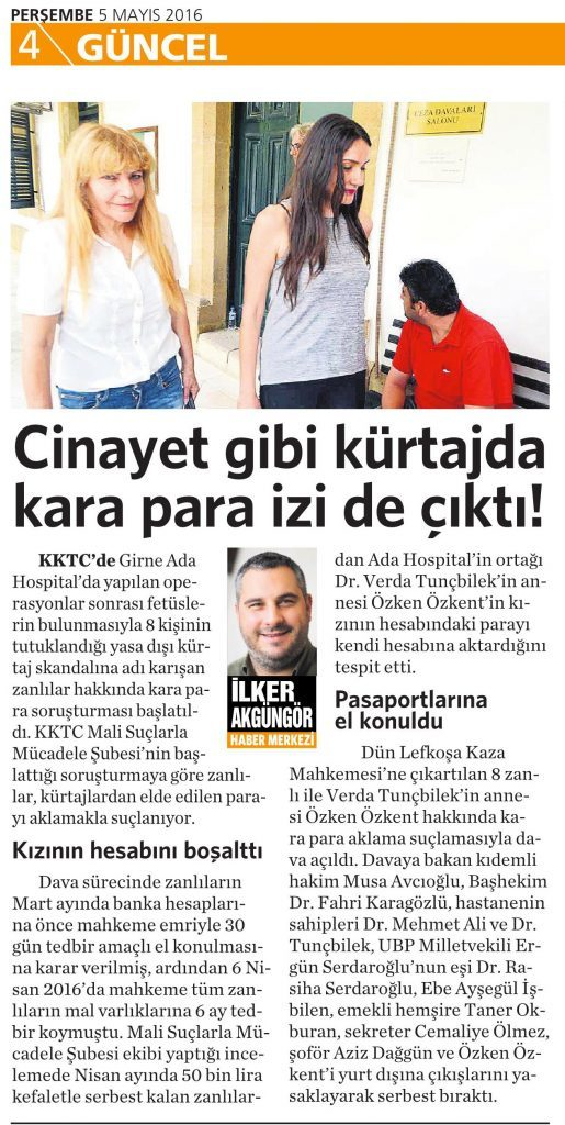 5 Mayıs 2016 Vatan Gazetesi 4. sayfa