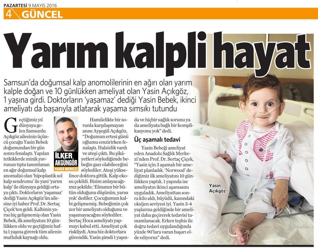 9 Mayıs 2016 Vatan Gazetesi 4. sayfa
