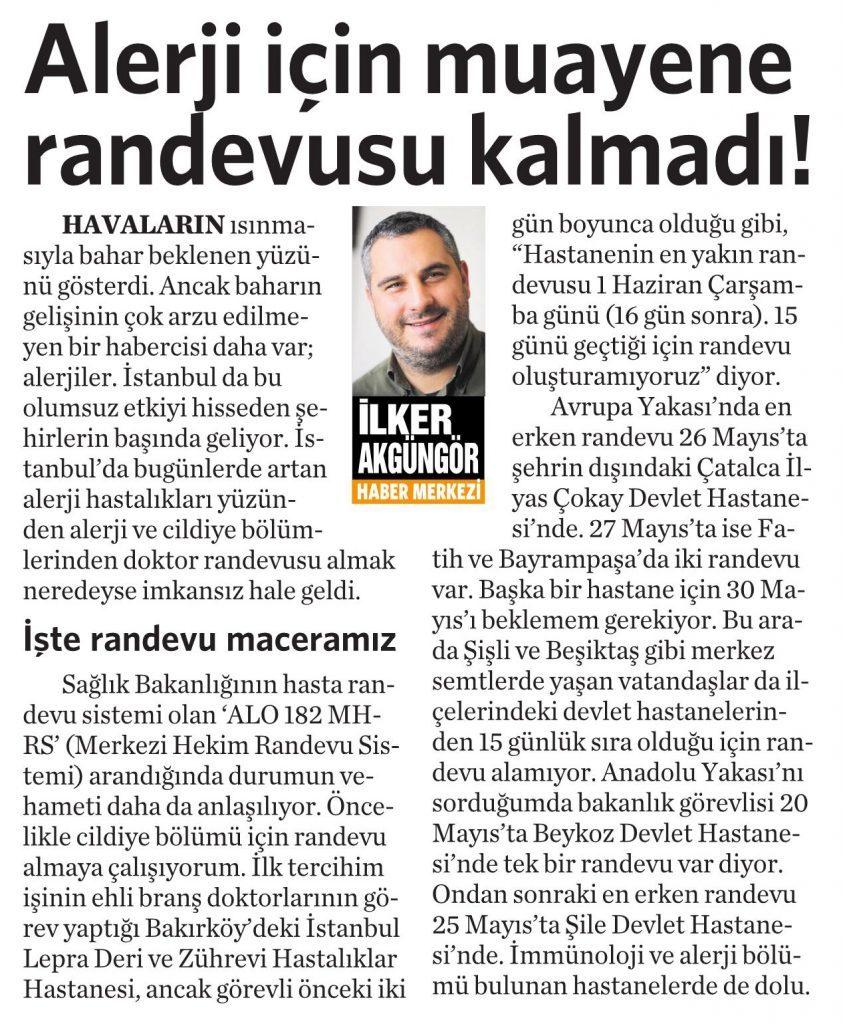 17 Mayıs 2016 Vatan Gazetesi 4. sayfa