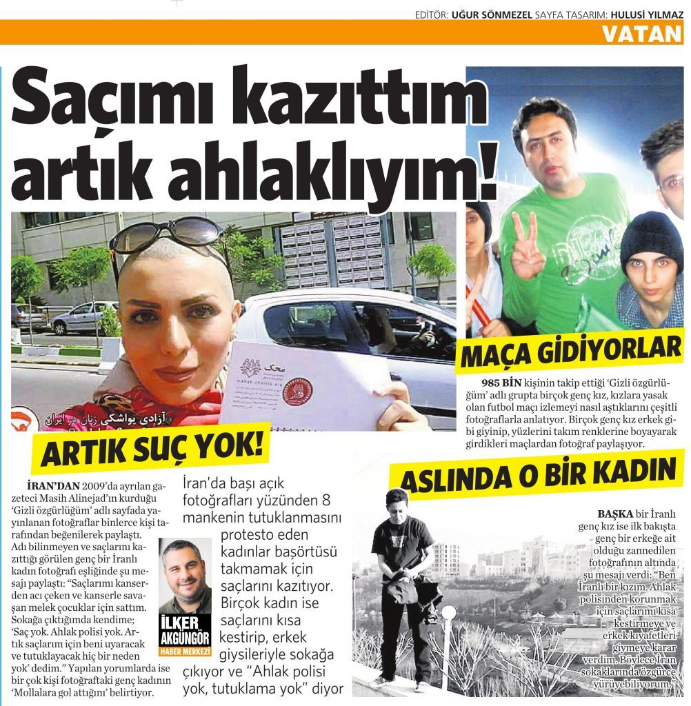 19 Mayıs 2016 Vatan Gazetesi 6. sayfa