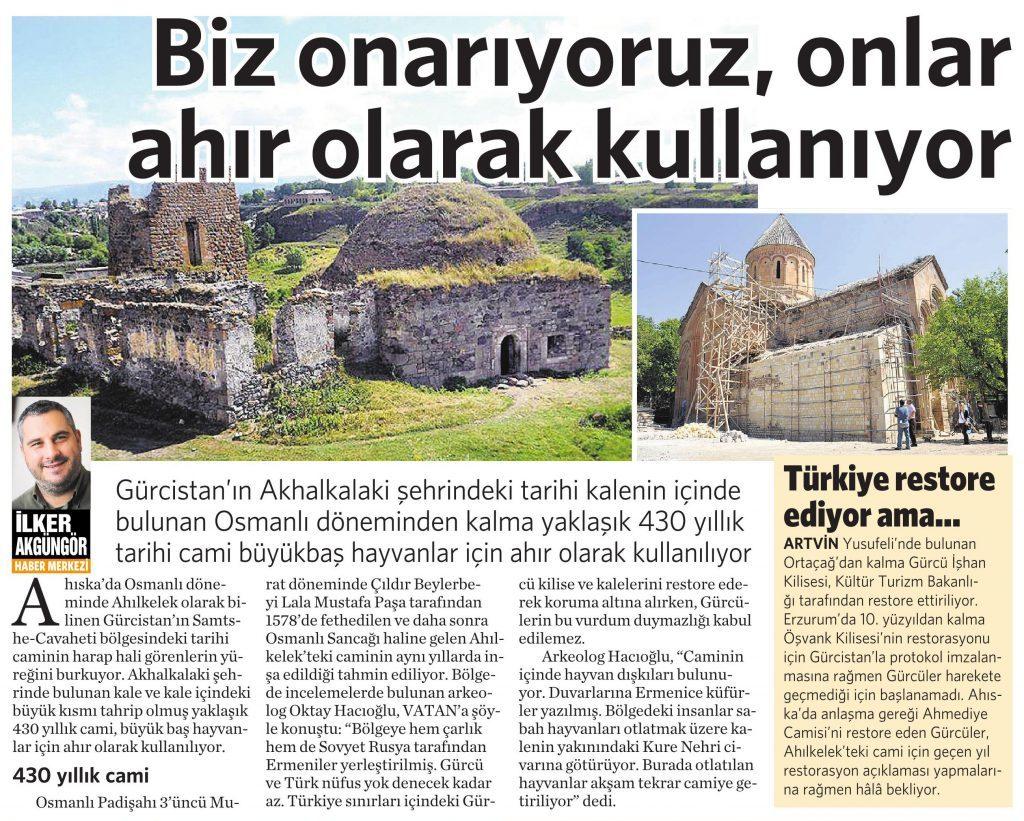 24 Mayıs 2016 Vatan Gazetesi 4. sayfa