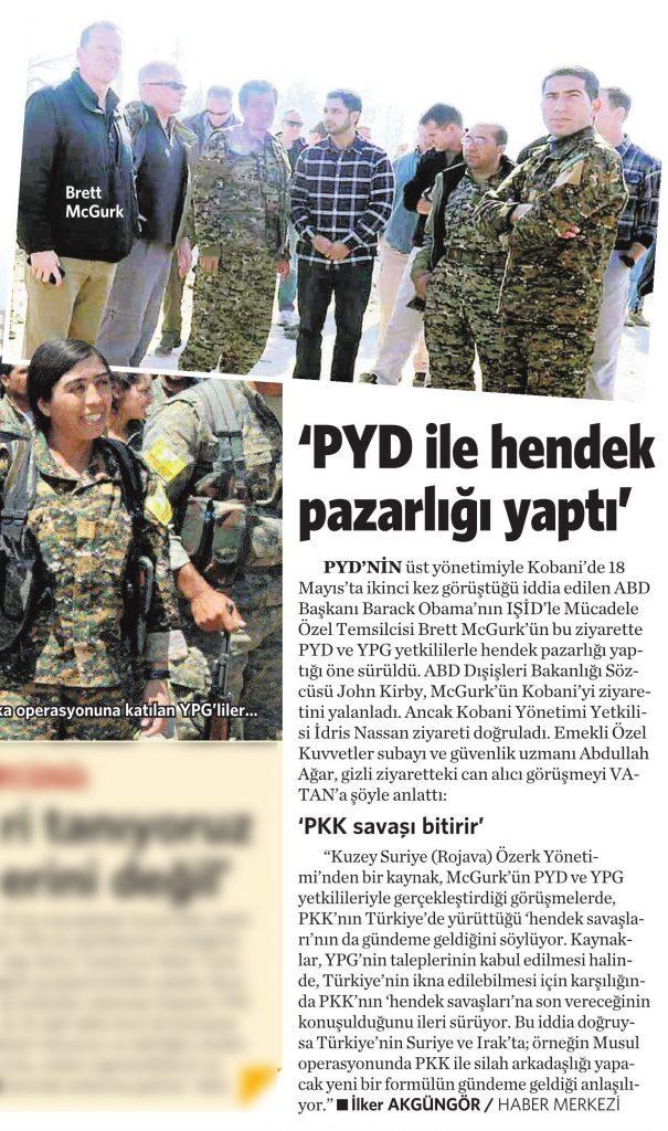 25 Mayıs 2016 Vatan Gazetesi 12. sayfa
