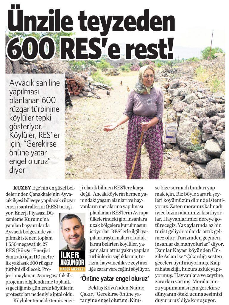 30 Mayıs 2016 Vatan Gazetesi 4. sayfa