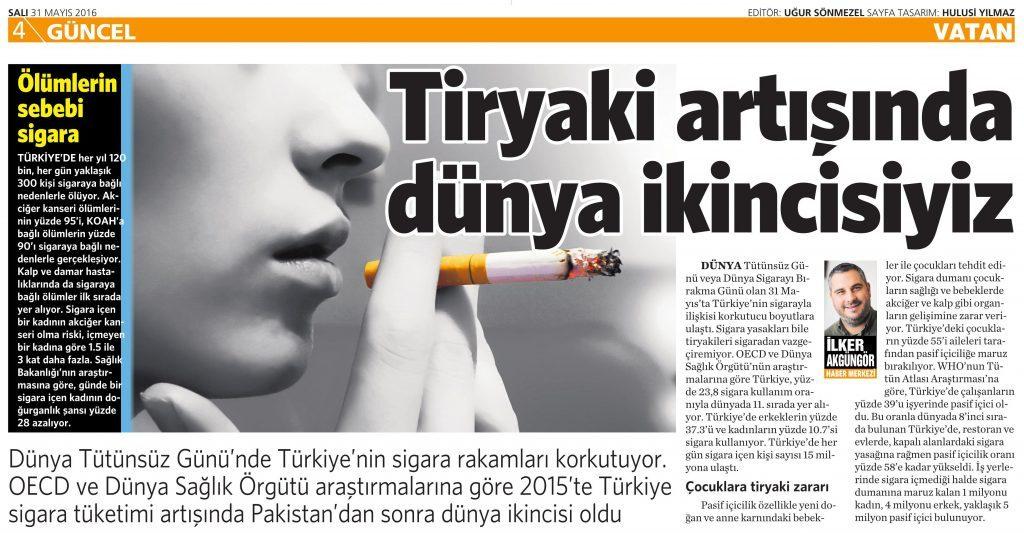 31 Mayıs 2016 Vatan Gazetesi 4. sayfa