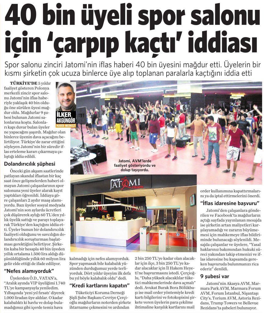 2 Haziran 2016 Vatan Gazetesi 4. sayfa