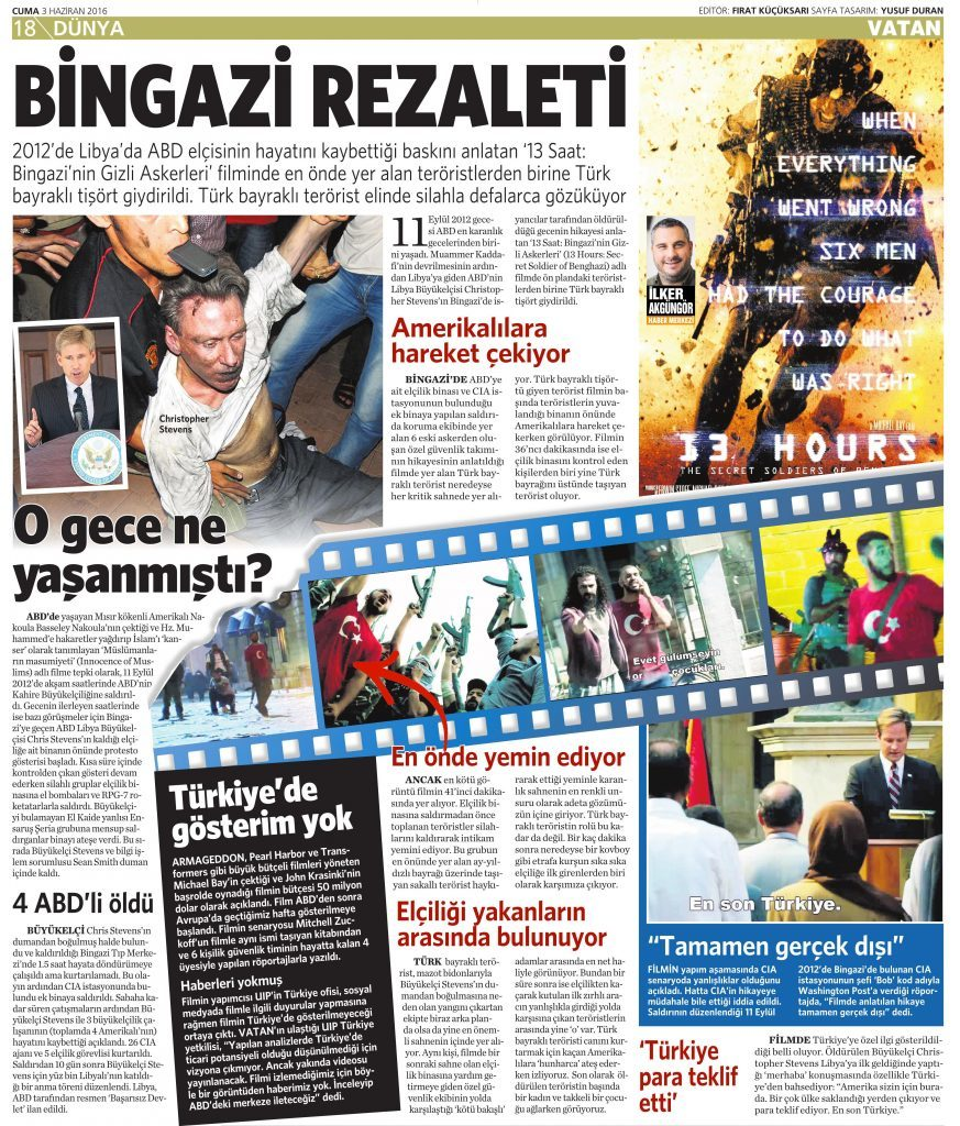 3 Haziran 2016 Vatan Gazetesi 18. sayfa
