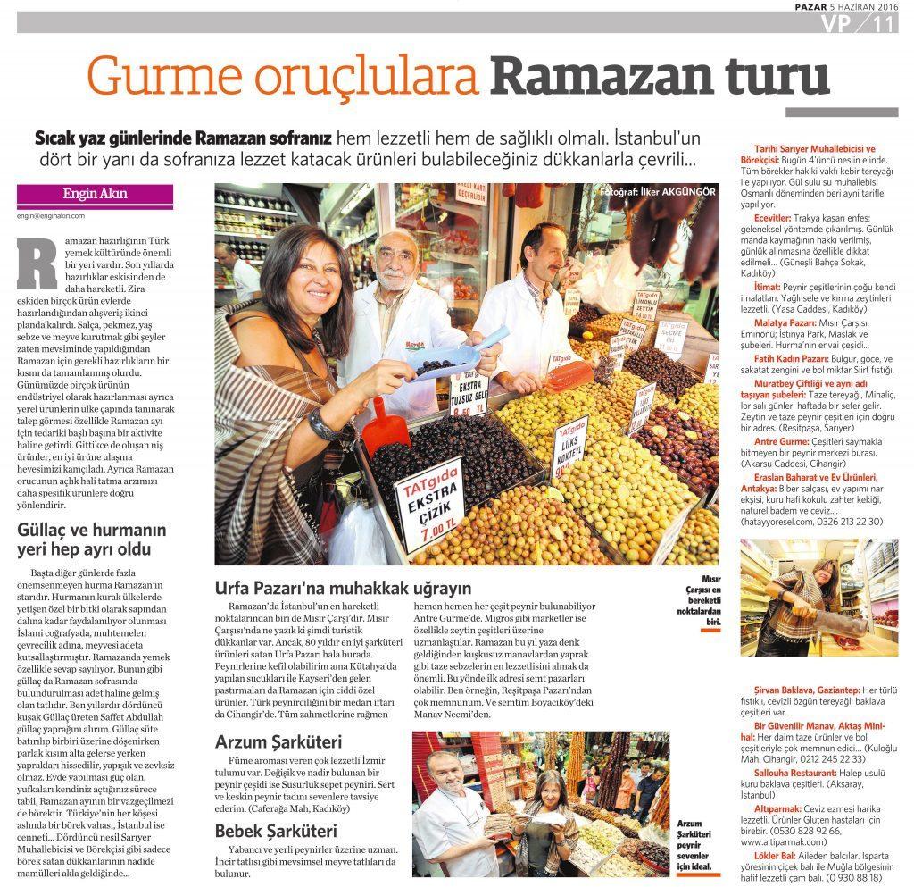 5 Haziran 2016 Vatan Gazetesi Pazar eki 11. sayfa