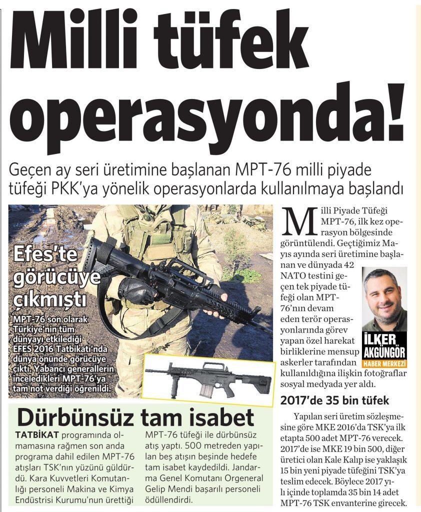 10 Haziran 2016 Vatan Gazetesi 12. sayfa