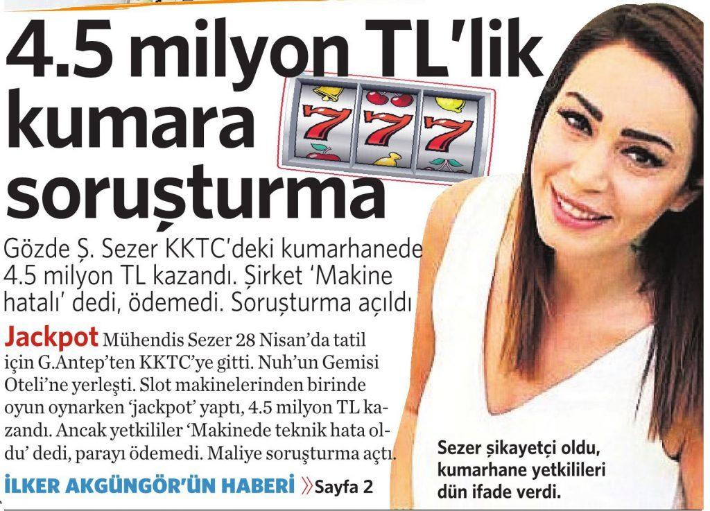 11 Haziran 2016 Vatan Gazetesi 1. sayfa