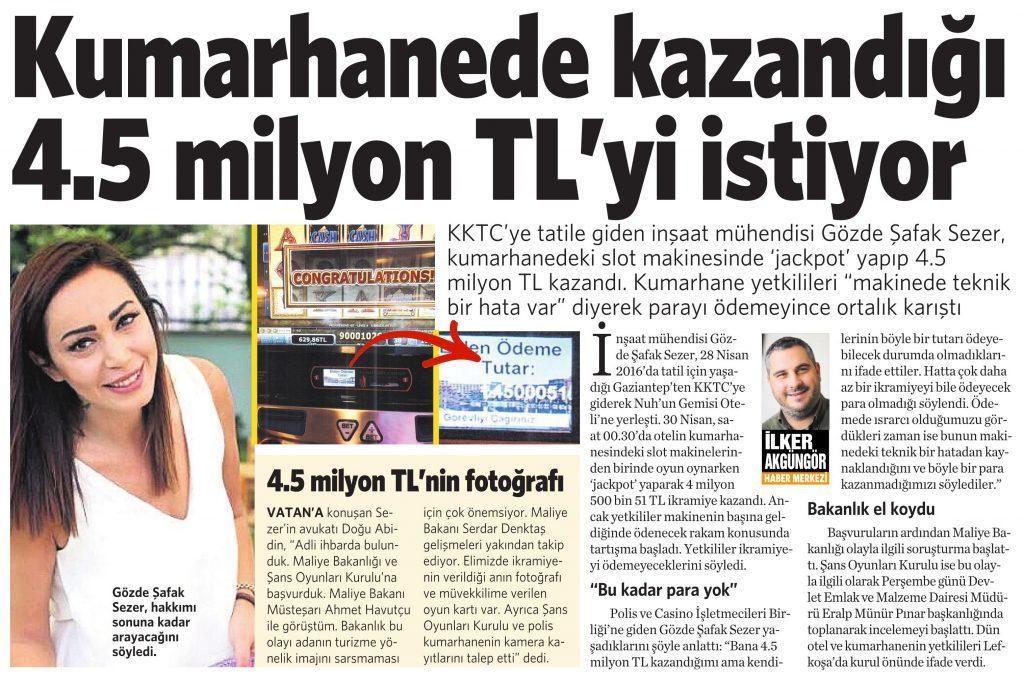 11 Haziran 2016 Vatan Gazetesi 2. sayfa