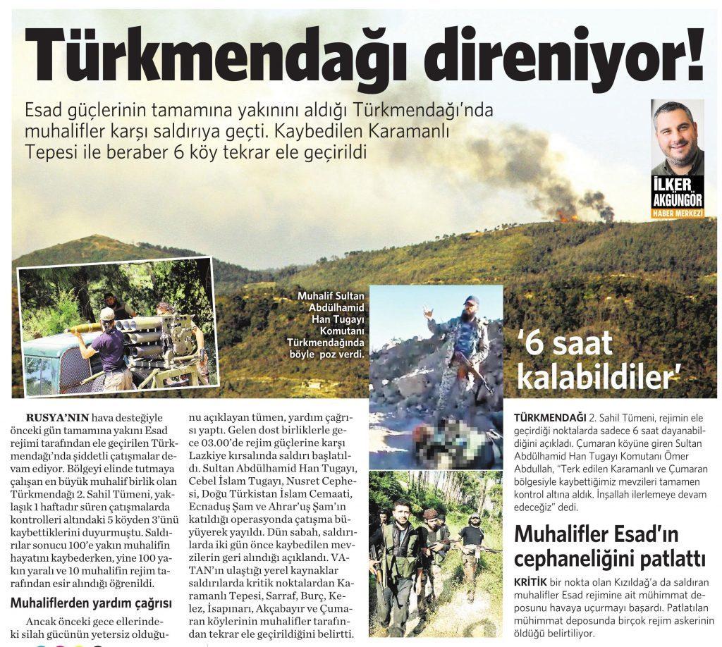 18 Haziran 2016 Vatan Gazetesi 13. sayfa