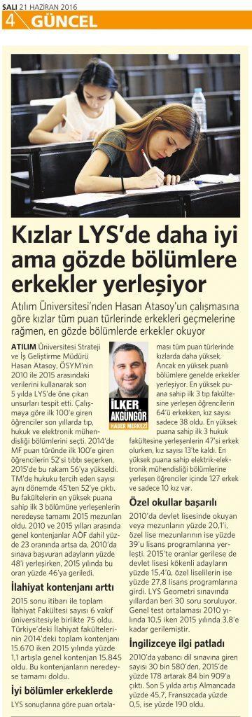 21 Haziran 2016 Vatan Gazetesi 4. sayfa