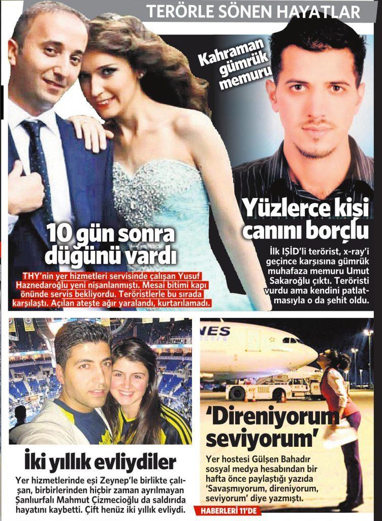 30 Haziran 2016 Vatan Gazetesi 1. sayfa