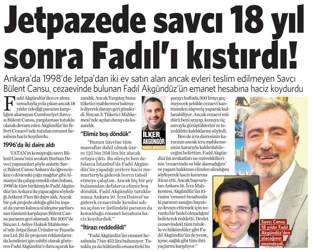 14 Temmuz 2016 Vatan Gazetesi 14. sayfa