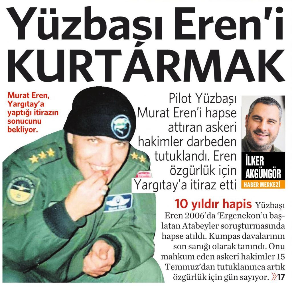 29 Temmuz 2016 Vatan Gazetesi 1. sayfa