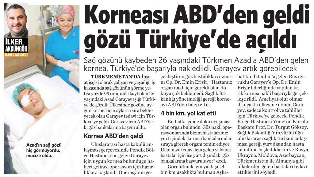 1 Ağustos 2016 Vatan Gazetesi 4. sayfa