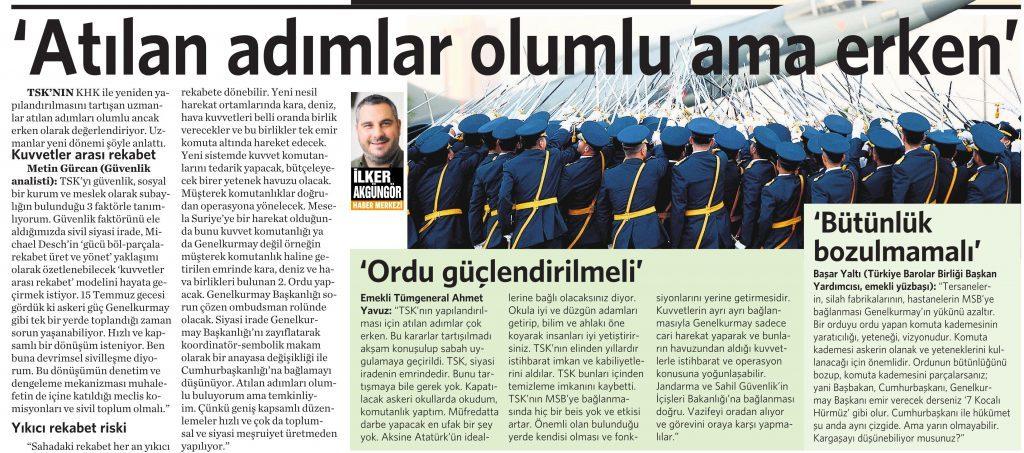 4 Ağustos 2016 Vatan Gazetesi 13. sayfa