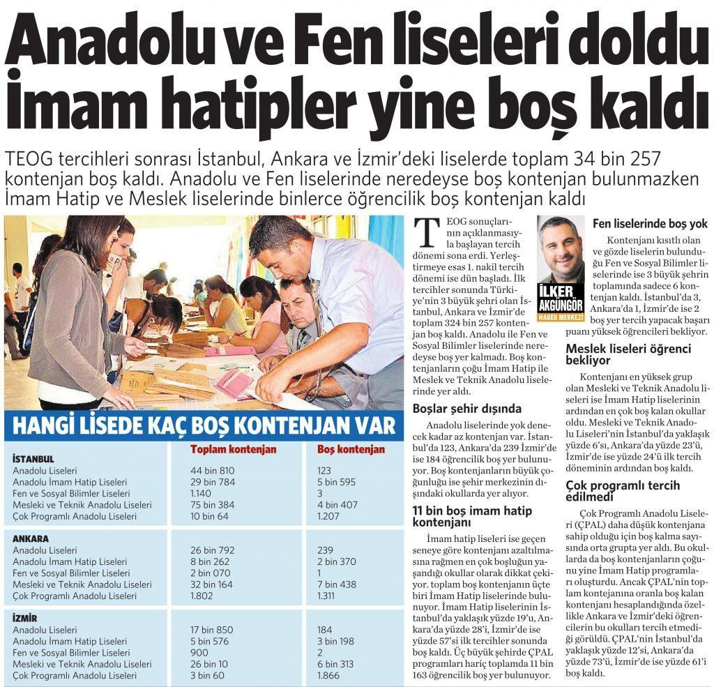 18 Ağustos 2016 Vatan Gazetesi 4. sayfa