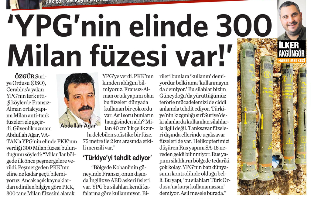 31 Ağustos 2016 Vatan Gazetesi 13. sayfa
