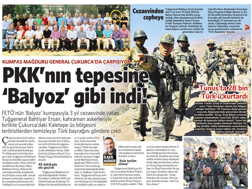 16 Eylül 2016 Vatan Gazetesi 11. sayfa