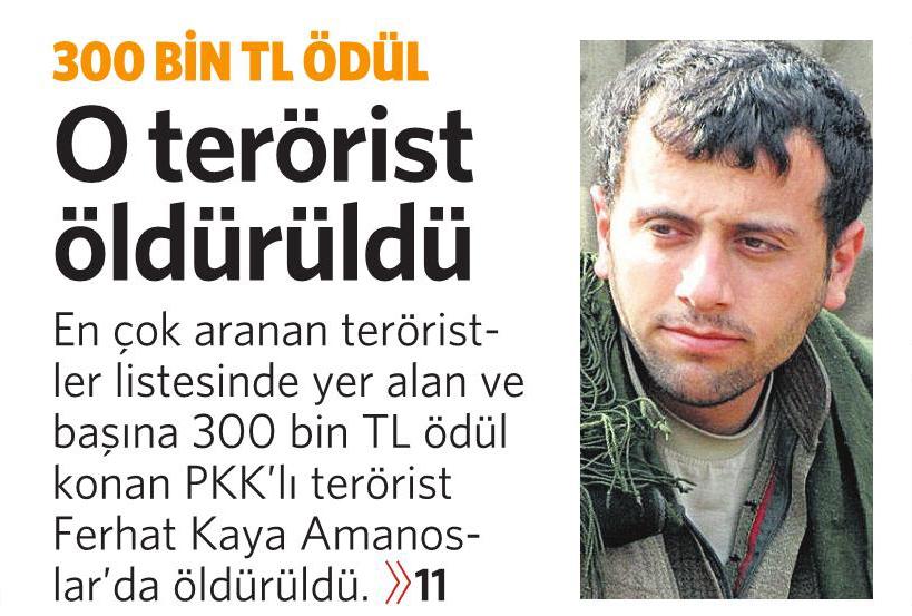 22 Eylül 2016 Vatan Gazetesi 1. sayfa