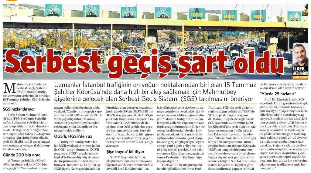 1 Ekim 2016 Vatan Gazetesi 2. sayfa