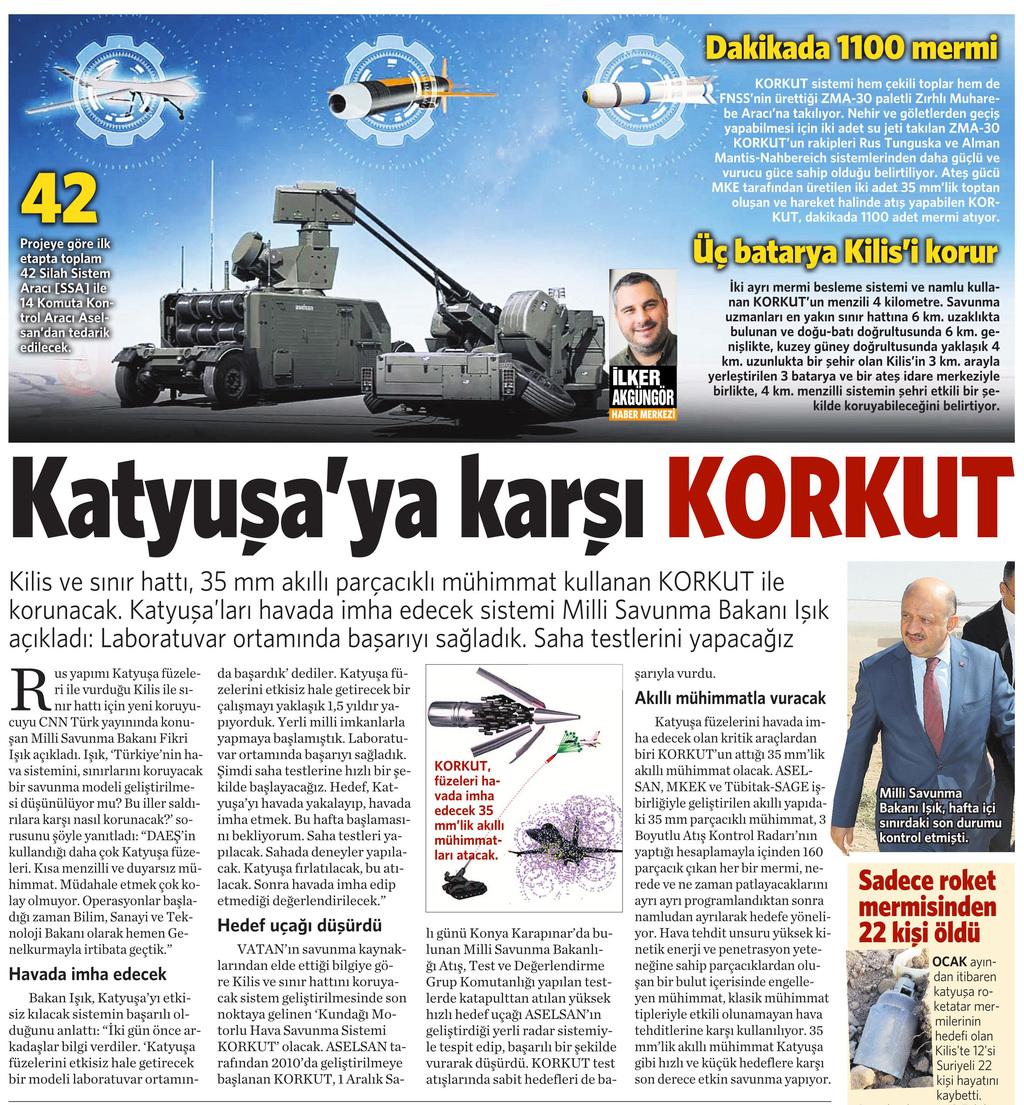 3 Ekim 2016 Vatan Gazetesi 10. sayfa