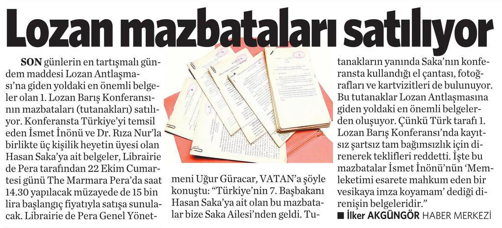 14 Ekim 2016 Vatan Gazetesi 4. sayfa