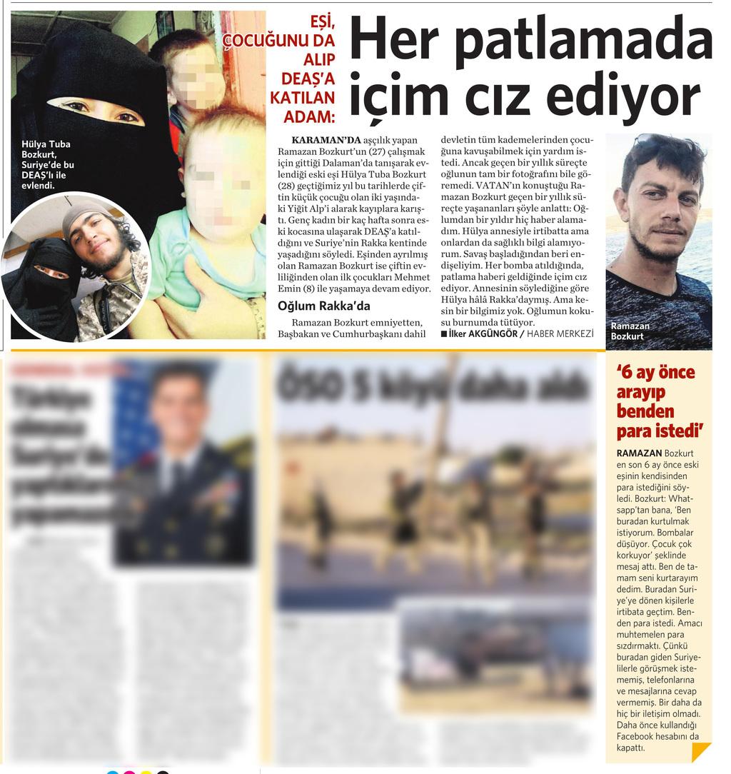 20 Ekim 2016 Vatan Gazetesi 10. sayfa