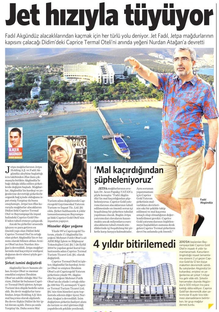 6 Aralık 2014 Vatan Gazetesi 7. sayfa