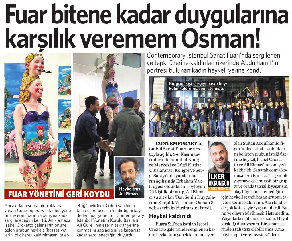 5 Kasım 2016 Vatan Gazetesi 4. sayfa