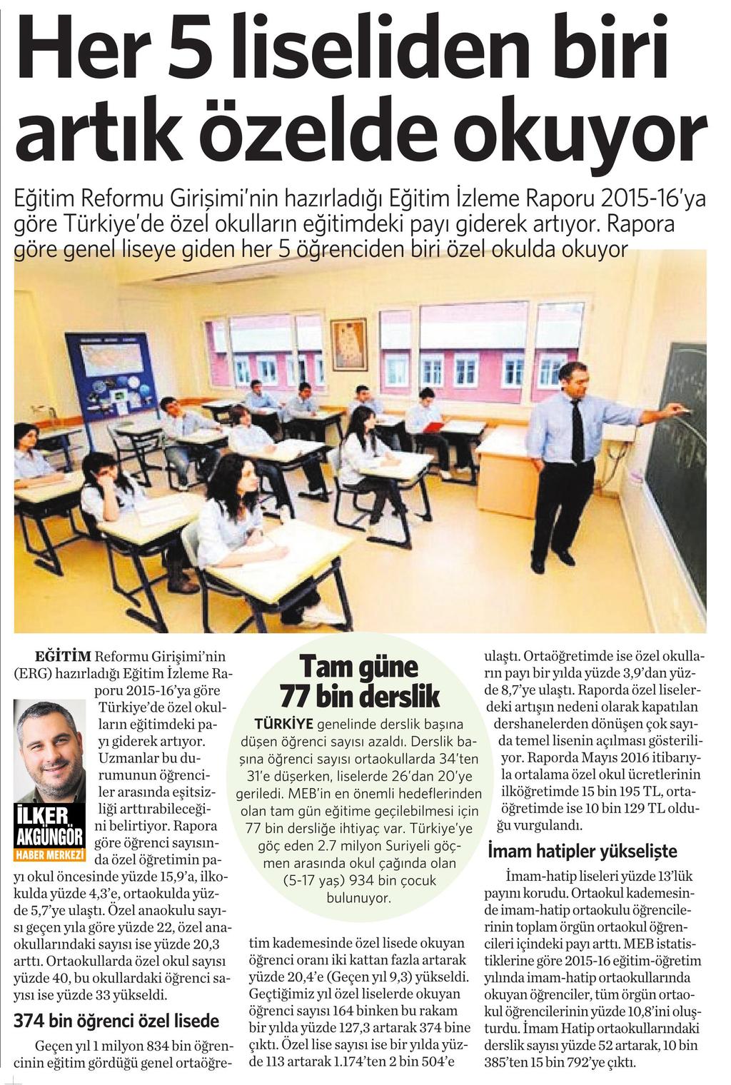 18 Kasım 2016 Vatan Gazetesi 4. sayfa